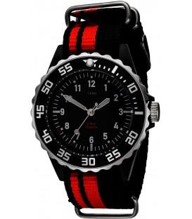 JOBO Kinder Armbanduhr Quarz Analog schwarz rot Kinderuhr Bild1