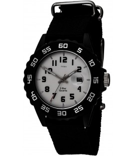 JOBO Kinder Armbanduhr Quarz Analog schwarz Kinderuhr mit Datum Bild1