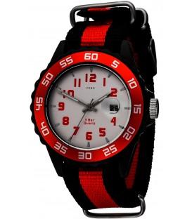 JOBO Kinder Armbanduhr Quarz Analog schwarz rot Kinderuhr mit Datum Bild1