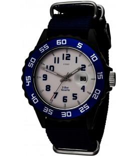 JOBO Kinder Armbanduhr Quarz Analog schwarz blau Kinderuhr mit Datum Bild1