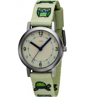 JOBO Kinder Armbanduhr Eule Eulen hellgrün grün Quarz Analog Kinderuhr Bild1