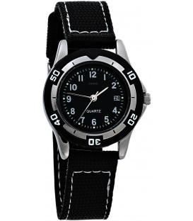 JOBO Kinder Armbanduhr schwarz Quarz Analog Messing Mineralglas Kinderuhr Bild1