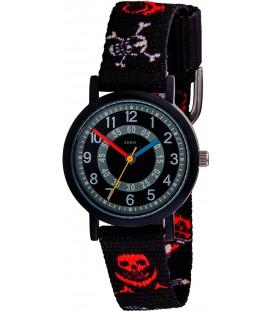 JOBO Kinder Armbanduhr Totenkopf Pirat Quarz Analog Aluminium Kinderuhr Bild1