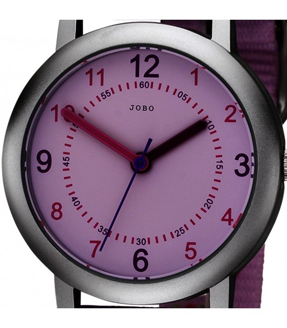 JOBO Kinder Armbanduhr Herzen rosa pink Quarz Kinderuhr Mädchenuhr Bild2