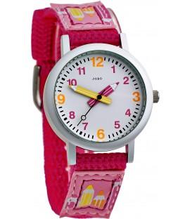 JOBO Kinder Armbanduhr pink Quarz Analog Aluminium Edelstahlboden Kinderuhr Bild1