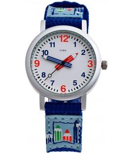 JOBO Kinder Armbanduhr helllbau blau Quarz Analog Aluminium Kinderuhr Bild1