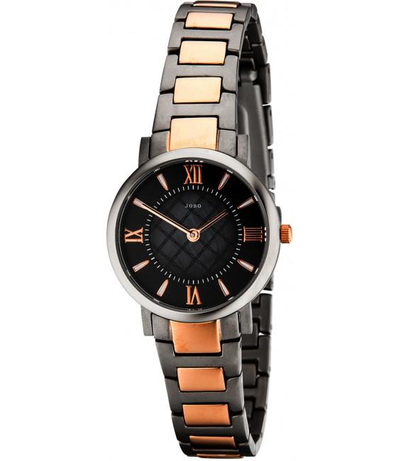 JOBO Damen Armbanduhr Quarz Analog Titan bicolor Damenuhr Bild1 Großbild