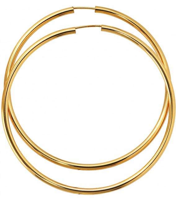 Großbild Creolen rund 333 Gold Gelbgold Ohrringe Goldohrringe Goldcreolen Bild1