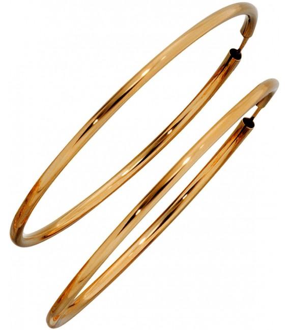 Großbild Creolen rund 333 Gold Gelbgold Ohrringe Goldohrringe Goldcreolen Bild2