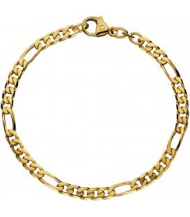 Figaroarmband 585 Gold Gelbgold 21 cm Armband Goldarmband Karabiner Bild1