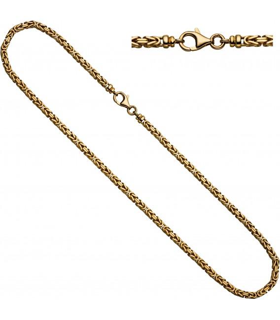 Königskette 585 Gelbgold 32 mm 80 cm Gold Kette Halskette Goldkette Karabiner Bild1 Großbild