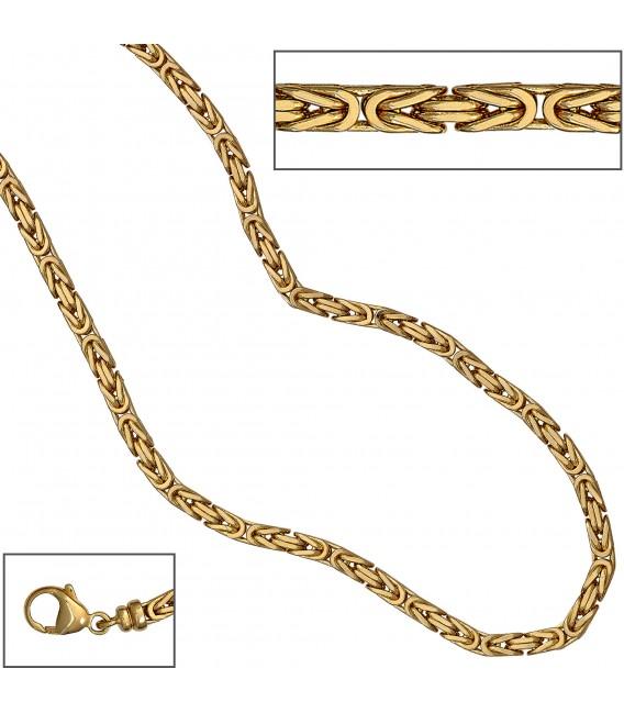 Königskette 585 Gelbgold 32 mm 80 cm Gold Kette Halskette Goldkette Karabiner Bild3 Großbild
