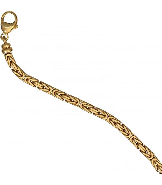 Königskette 585 Gelbgold 32 mm 80 cm Gold Kette Halskette Goldkette Karabiner Bild4 Großbild