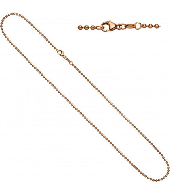 Großbild Kugelkette 585 Rotgold 20 mm 42 cm Gold Kette Halskette Rotgoldkette Karabiner Bild1