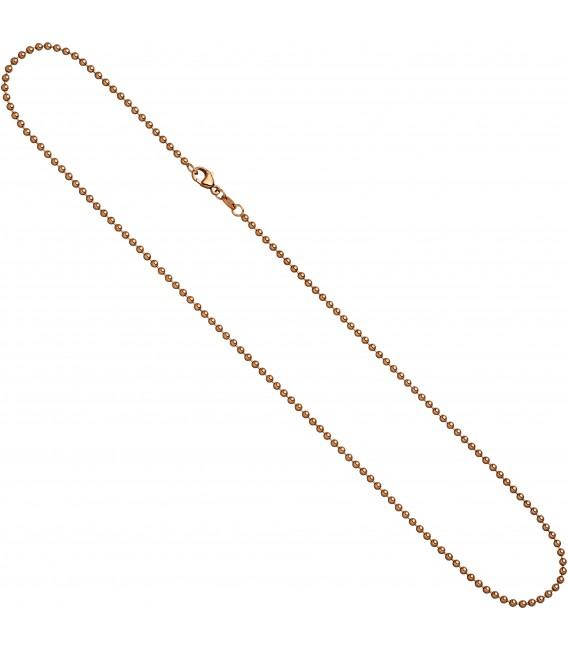 Großbild Kugelkette 585 Rotgold 20 mm 42 cm Gold Kette Halskette Rotgoldkette Karabiner Bild2