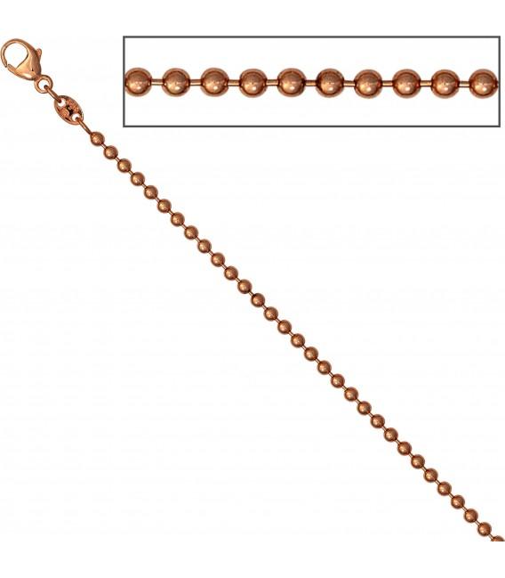 Großbild Kugelkette 585 Rotgold 20 mm 42 cm Gold Kette Halskette Rotgoldkette Karabiner Bild3