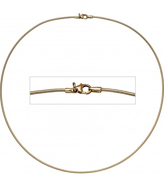Großbild Halsreif flexibel 585 Gelbgold 14 mm 45 cm Gold Kette Halskette Goldhalsreif Bild1