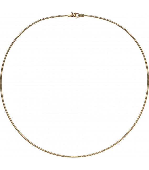 Großbild Halsreif flexibel 585 Gelbgold 14 mm 45 cm Gold Kette Halskette Goldhalsreif Bild2
