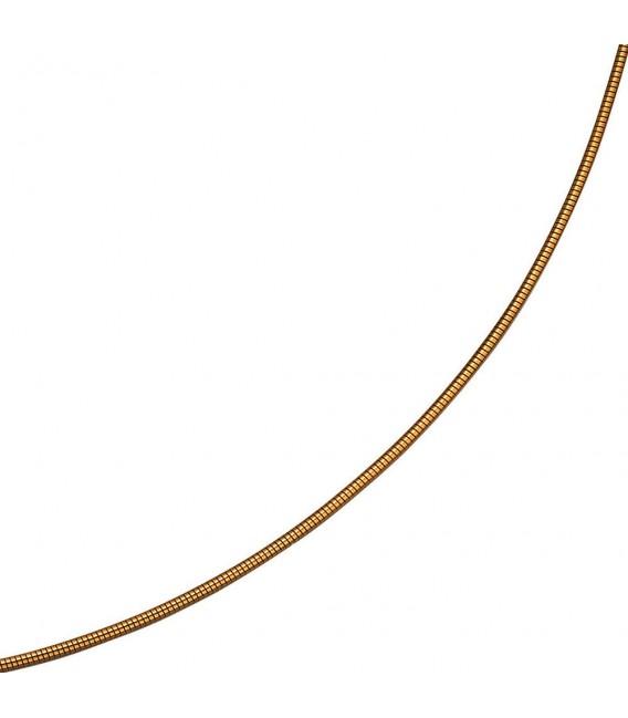 Großbild Halsreif flexibel 585 Gelbgold 14 mm 45 cm Gold Kette Halskette Goldhalsreif Bild3