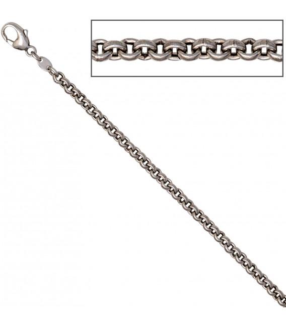 Erbskette 585 Weißgold 3 mm 42 cm Gold Kette Halskette Weißgoldkette Karabiner Bild3 Großbild
