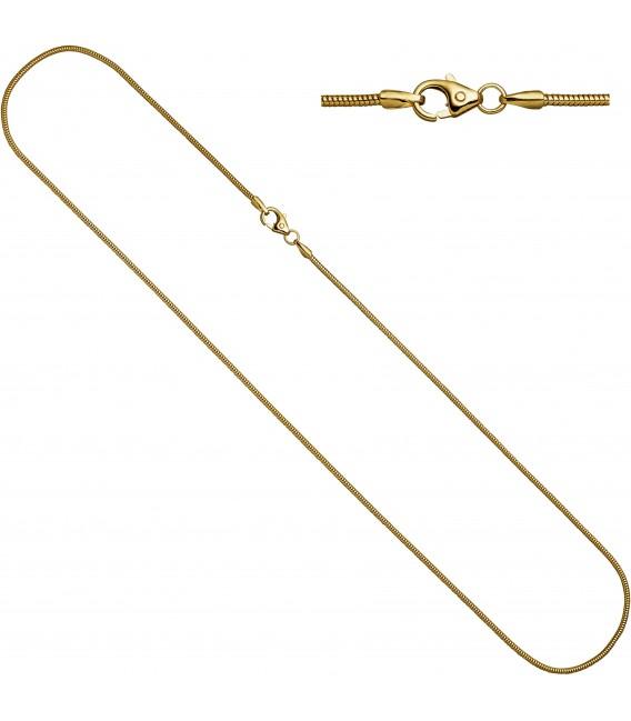 Schlangenkette 333 Gelbgold 16 mm 60 cm Karabiner Gold Kette Goldkette Bild1