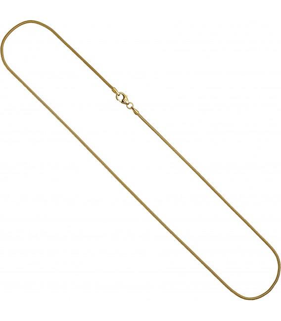 Schlangenkette 333 Gelbgold 16 mm 60 cm Karabiner Gold Kette Goldkette Bild2
