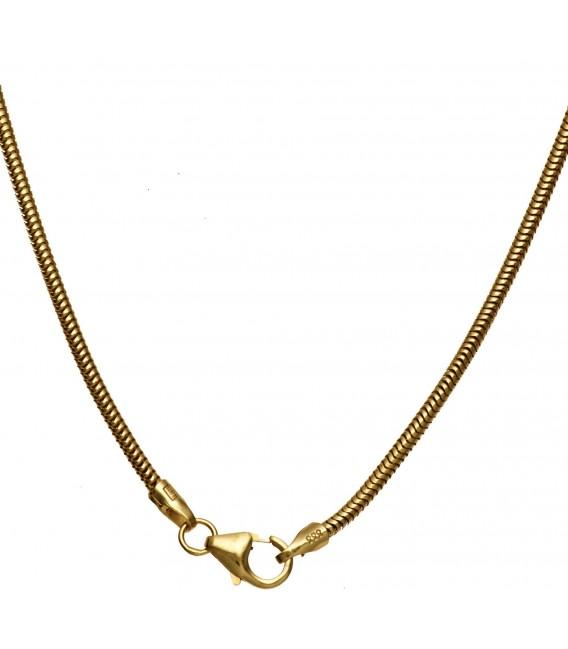 Großbild Schlangenkette 333 Gelbgold 16 mm 60 cm Karabiner Gold Kette Goldkette Bild4