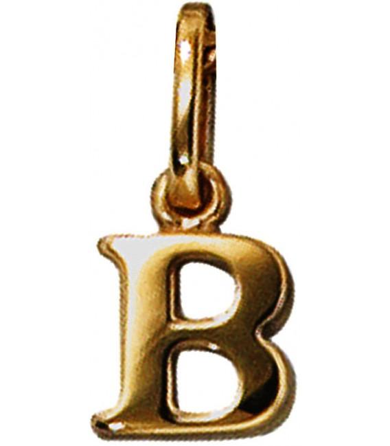 Anhänger Buchstabe B 333 Gold Gelbgold Buchstabenanhänger Bild1