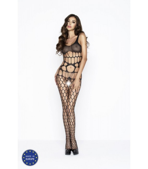 Catsuit ouvert PE Bodystocking BS032 schwarz