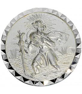 Autoplakette Plakette Schutzpatron Christopherus 925 Sterling Silber Bild1