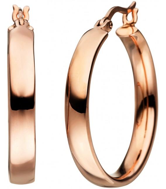 Creolen 925 Silber rotgold vergoldet Ohrringe Bild1 Großbild