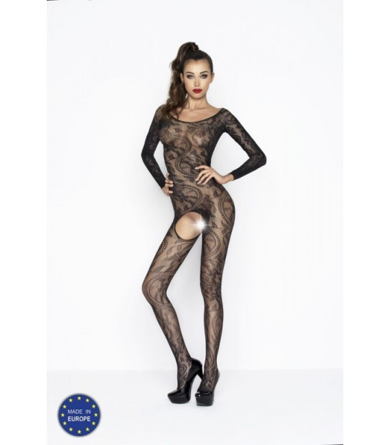 Catsuit ouvert PE Bodystocking BS042 schwarz