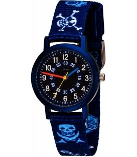JOBO Kinder Armbanduhr Pirat blau Quarz Aluminium Kinderuhr Jungenuhr Bild1