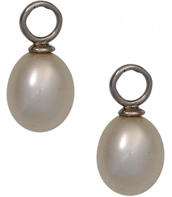 Großbild Einhänger Anhänger für Creolen 925 Sterling Silber mit Süßwasser Perlen Bild1
