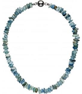 Halskette Kette Aquamarin hellblau - 49524