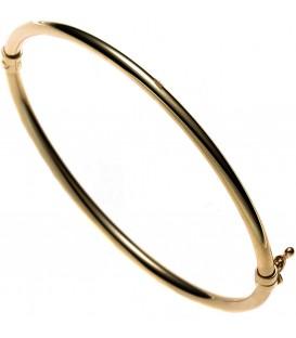 Armreif Armband oval 585 Gold Gelbgold Goldarmreif Steckverschluss Bild1