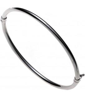 Armreif Armband oval 585 Gold Weißgold Goldarmreif Goldarmreif Steckverschluss Bild1