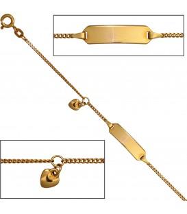 Schildband Herz 585 Gold - 42892 Bild