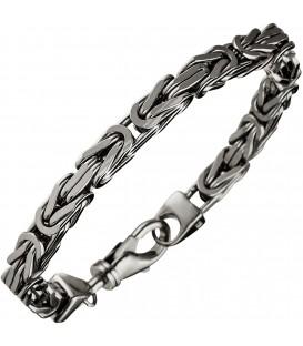 Königsarmband 925 Sterling Silber 23 cm Armband Silberarmband Karabiner Bild1