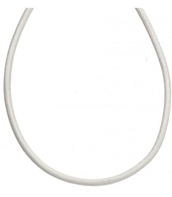 Leder Halskette Kette Schnur weiß 100 cm Bild1