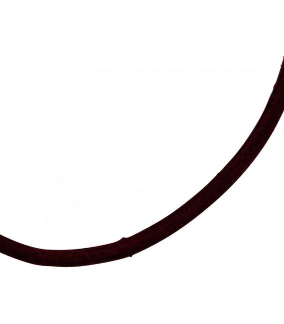 Großbild Leder Halskette Kette Schnur weinrot 100 cm Bild2