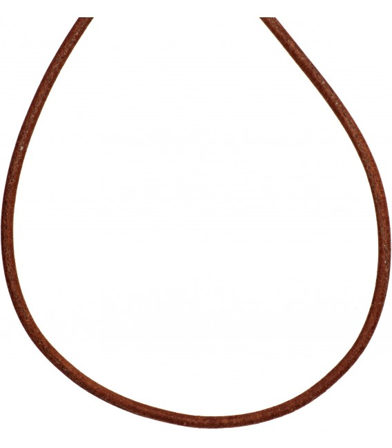 Leder Halskette Kette Schnur natur 100 cm Bild1