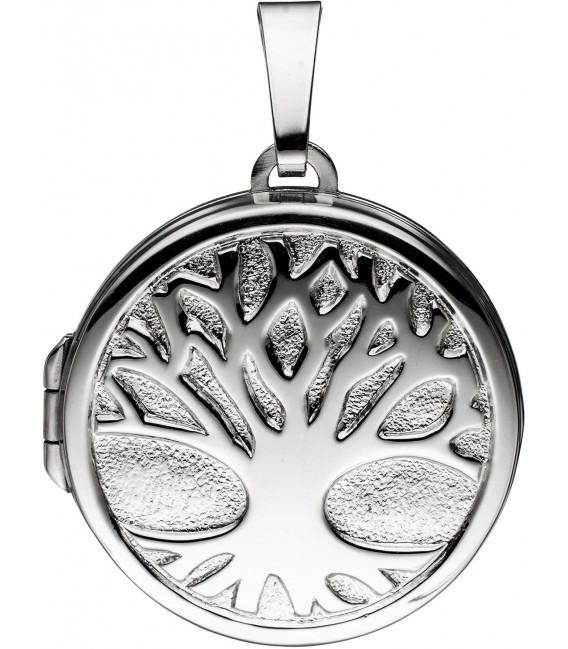 Medaillon Anhänger Baum des Lebens Weltenbaum rund 925 Silber mit Kette 50 cm Bild5 Großbild