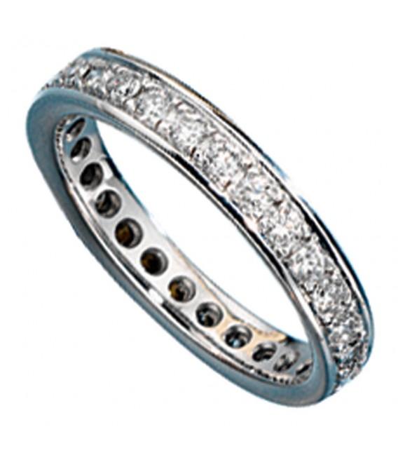 Memory Ring 585 Gold Weißgold mit Diamanten Brillanten rundum Memoryring Bild1 Großbild