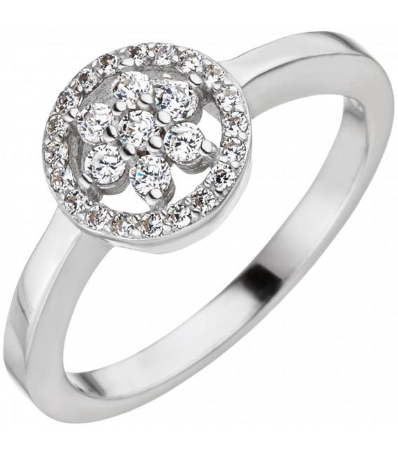 Großbild Damen Ring 925 Sterling Silber mit Zirkonia Silberring Bild1