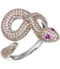 Damen Ring Schlange 925 - 48632
