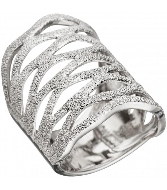 Damen Ring breit 925 Sterling Silber Silberring Bild1 Großbild