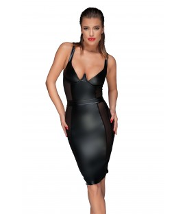 schwarzes Minikleid F151 von Noir Handmade Muse Collection