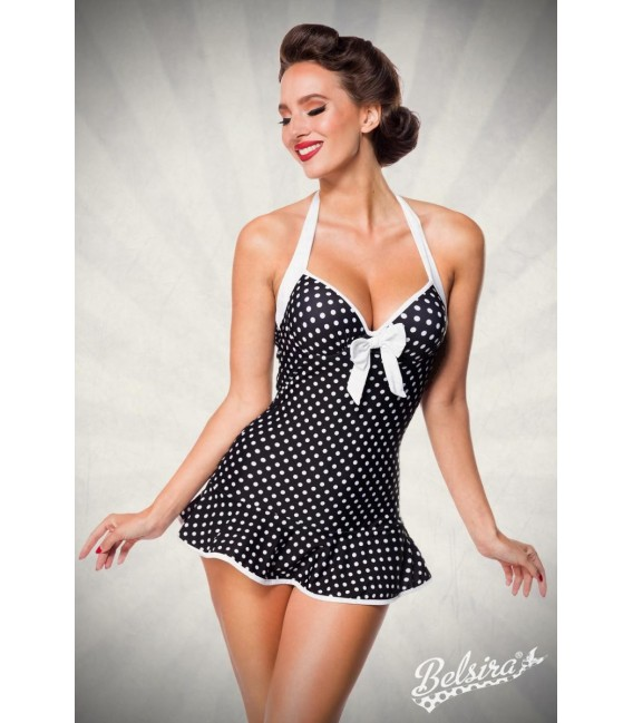 Vintage Swimdress schwarz/weiß - AT50112