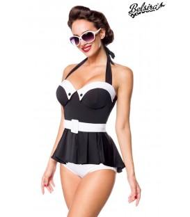 Vintage Badekleid schwarz/weiß - AT50120